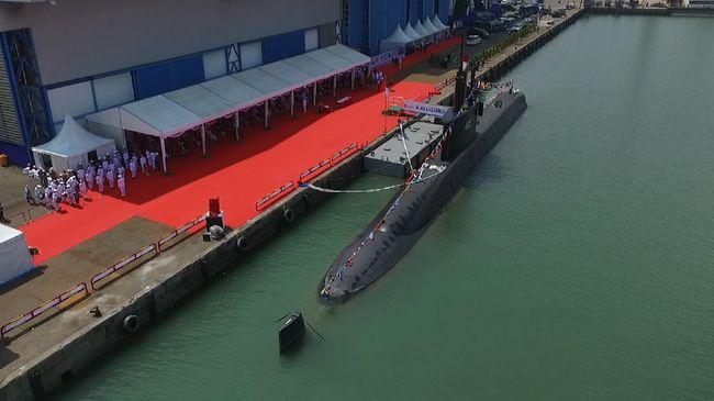 Kapal Selam Alugoro-405 dari Menteri Pertahanan Prabowo ke TNI AL ini secara keseluruhan dikerjakan PT PAL Indonesia.