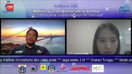VIDEO: Bus Listrik Transjakarta Beroperasi Saat HUT Jakarta