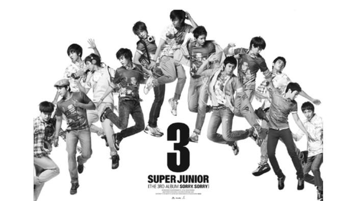 Album yang membawa nama Super Junior sekaligus musik K-Pop go international, Sorry Sorry (2009)! lagu Sorry Sorry juga menjadi salah satu lagu legendaris di ranah musik K-pop / foto: smtown.com
