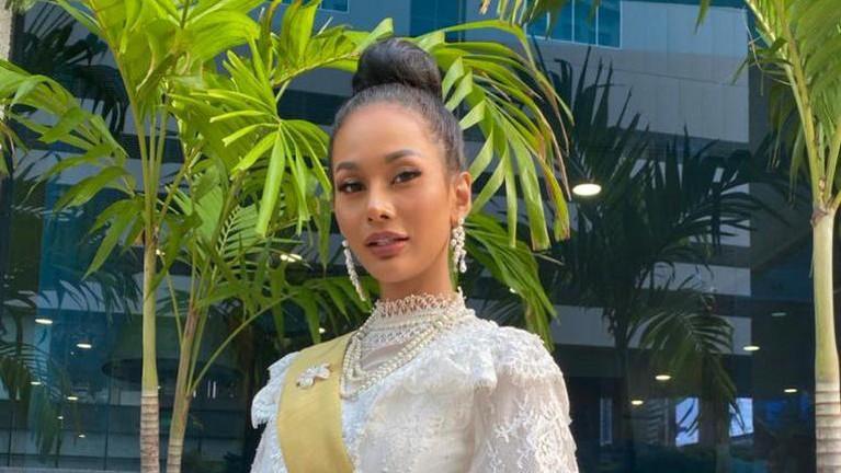 Berikut adalah potret pesona Aurra dalam berbagai balutan busana di ajang Miss Grand International.