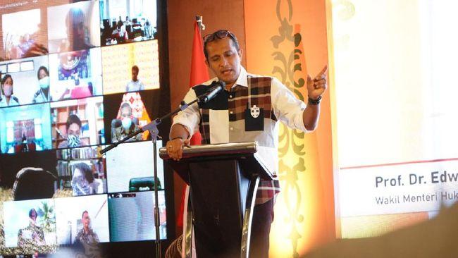 Wamenkumham Eddy Hiariej mengakui rumusan Pasal 27, 28, 29 UU ITE tak jelas dan multitafsir yang kemudian memicu keresahan masyarakat.
