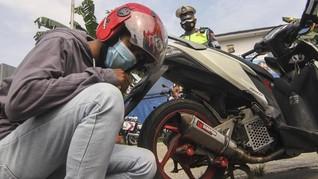 Tanpa Alat, Polisi Andalkan Telinga Tindak Knalpot Bising