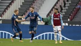 Hasil Liga Inggris: West Ham Ditahan Arsenal 3-3
