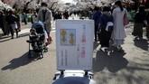 Tahun ini, pemerintah Jepang kembali melarang penduduknya hanami di saat musim mekar sakura. Namun jalan-jalan di taman masih dipersilakan.