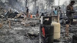Kamp Rohingya di Bangladesh Terbakar, 1 Bocah Tewas