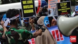 FOTO: Protes dari Jakarta Bela Muslim Uighur di China