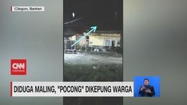 VIDEO: Diduga Maling, 'Pocong' Dikepung Massa
