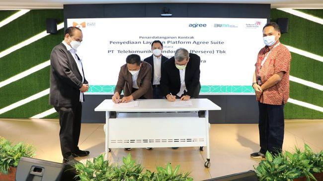 PT Telkom (Persero) Tbk dan PT Mitra BUMDes Nusantara (MBN) melakukan penandatanganan kontrak kerja sama terkait Penyediaan Layanan Platform Agree Suite.