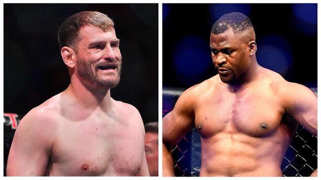 Hasil timbang badan duel utama kelas berat UFC 260 menunjukkan Francis Ngannou lebih berat 13 kilogram dari Stipe Miocic.