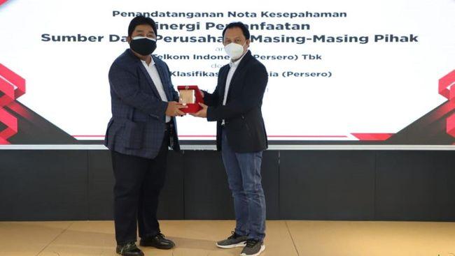 PT Telkom Indonesia bekerja sama dengan PT Biro Klasifikasi Indonesia mendukung program pemerintah dalam membentuk Holding BUMN Jasa Survey.