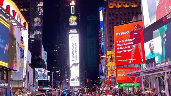 Brand Fashion Lokal Erigo Tampil di Times Square New York