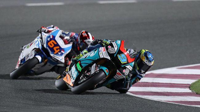 Duo pembalap Pertamina Mandalika SAG Bo Bendsneyder dan Thomas Luthi tercecer dari 10 besar pada kualifikasi Moto2 Doha 2021 di Sirkuit Losail.
