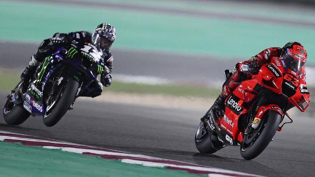 Pembalap Ducati Francesco Bagnaia jadi yang tercepat pada FP2 MotoGP Portugal, sementara Marc Marquez keenam, Jumat (16/4).