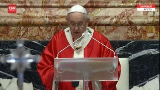 VIDEO: Paus Fransiskus Doakan Korban Bom Katedral Makassar