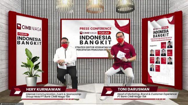 Mengusung tema kesehatan dan pemulihan ekonomi, Forum Indonesia Bangkit yang digelar Selasa (6/1) akan menghadirkan Wapres Ma'ruf Amin dan Menkes Budi Gunadi.