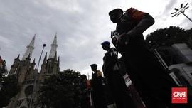 Polisi Siagakan 150 Petugas Termasuk Gegana Amankan Katedral