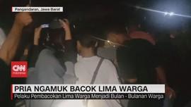 VIDEO: Pria Ngamuk Bacok 5 Warga & Bakar Kios