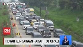 VIDEO: Libur Panjang, Ribuan Kendaraan Padati Tol Cipali