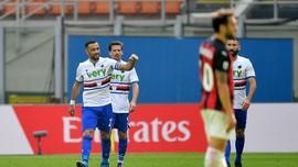 Hasil Liga Italia: Milan Ditahan Imbang 10 Pemain Sampdoria