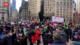 VIDEO: Unjuk Rasa Anti Diskriminasi Rasial DI Kota New York