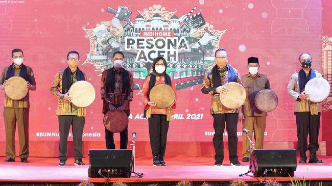 Telkom meluncurkan program IndiHome Pesona Aceh, yakni program yang menggabungkan tujuan connectivity, creativity, dan charity (3C) pada Senin (5/4).