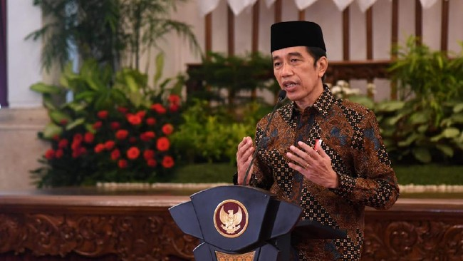 Jokowi Larang Kabinet Buka Puasa Bersama-Open House Lebaran