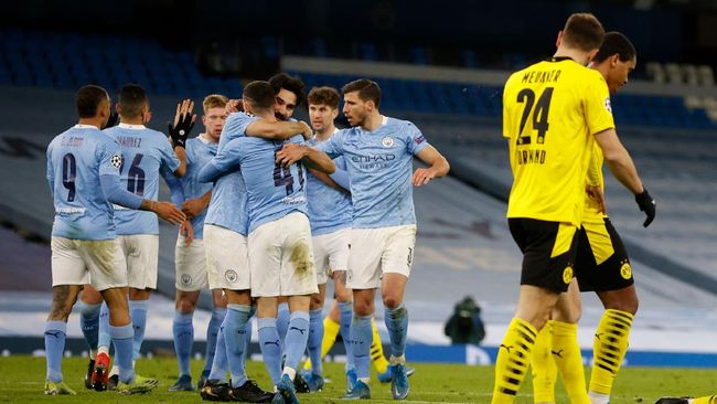 Manchester City bakal menghadapi Borussia Dortmund dengan bayang-bayang tren kegagalan di perempat final Liga Champions.