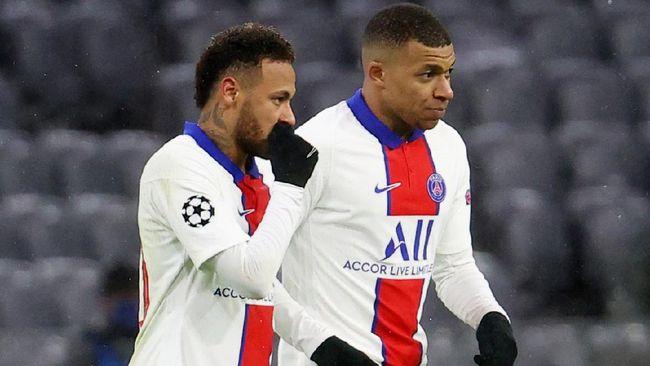 Duo bintang PSG, Kylian Mbappe dan Neymar jadi musuh terberat Bayern Munchen pada leg kedua perempat final Liga Champions.