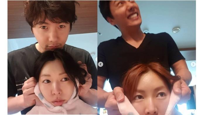 Diam-diam, Lee Sang Woo suka iseng juga! Kalau Ceon Seo Jin yang dijahili seperti ini di drama, kayaknya mustahil ya... / foto: instagram.com/sysysy1102
