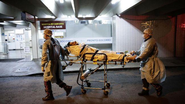 Kasus kematian akibat Covid-19 di Brasil terus melonjak. Pada Sabtu (19/6), kematian karena Covid-19 di Brasil menembus 500 ribu jiwa.