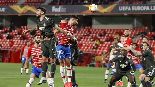 Berikut prediksi susunan pemain Man Utd vs Granada di leg kedua perempat final Liga Europa, Jumat (16/4) dini hari WIB.