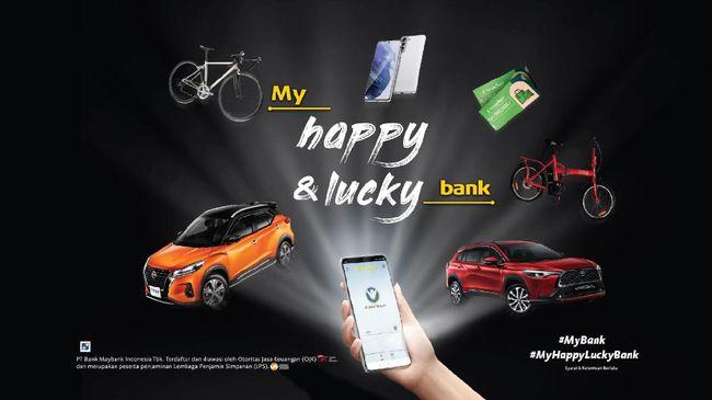 Peluncuran program My Happy & Lucky Bank dapat disaksikan melalui situs resmi, akun Instagram @MaybankID dan YouTube Maybank Indonesia mulai pukul 20.30 WIB.