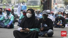 Buruh Sambangi Istana Presiden Tagih Kejelasan THR