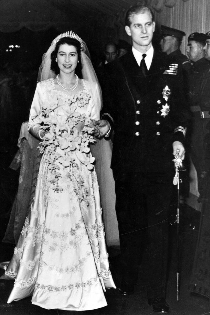 Hari pernikahan Ratu Elizabeth II dan Pangeran Philip pada 20 November 1947. Foto: tatler.com