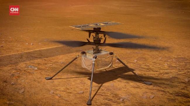 NASA Kembali Uji Helikopter Terbang di Mars Besok