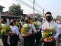 Aksi Bisu, Warga Myanmar Batalkan Ritual Cuci Patung Buddha