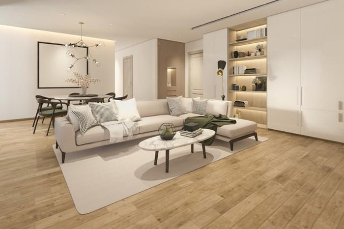 Ruang keluarga ini terlihat minimalis namun terlihat super elegan karena pemilihan warna cream yang tidak terlalu mencolok dan furniture yang dipilih juga sangat cocok (sumber : freepik)