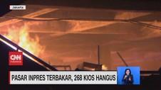 VIDEO: Pasar Inpres Terbakar, 268 Kios Hangus