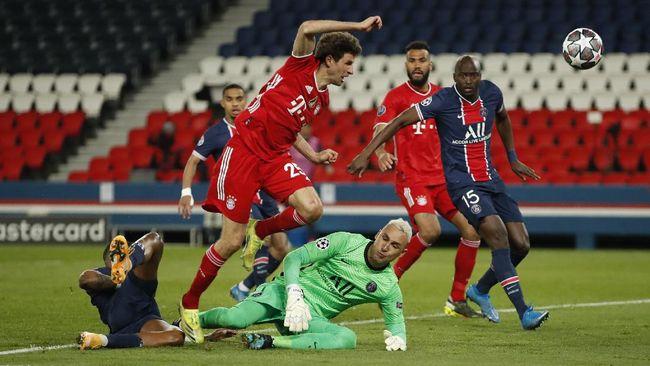 Kiper PSG, Keylor Navas punya rekor fantastis di Liga Champions berupa keberhasilan membawa tim lolos dalam laga dengan format dua leg.