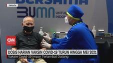 VIDEO: Vaksin Terbatas, Dosis Harian Vaksinasi Turun