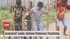 VIDEO: Habiskan Sore Jelang Buka Main Dolanan Anak