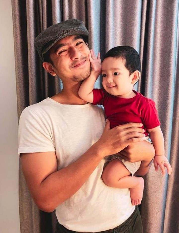 Arya Saloka dan putranya, Ibrahim