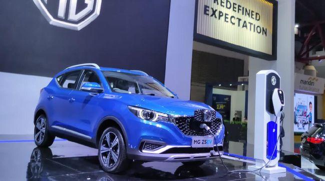 MG Motor Indonesia memperkenalkan ZS EV di IIMS 2021, namun belum disampaikan akan dijual.