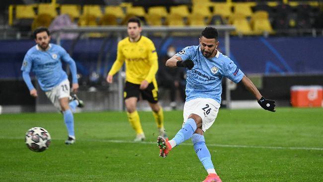 Manchester City berhasil menaklukkan Dortmund dengan skor 2-1 pada pertandingan leg kedua babak perempat final Liga Champions di Dortmund.