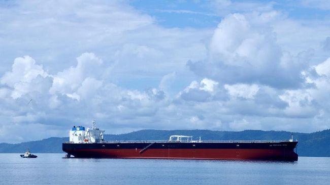 Kapal Very Large Crude Carrier (VLCC) Pertamina Pride telah tiba di Indonesia dan diresmikan Menteri BUMN Erick Tohir.