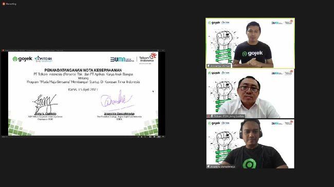 Gojek meluncurkan program Muda Maju Bersama dengan menggandeng Telkom Indonesia melalui Indonesia Telecommunication & Digital Research Institute (ITDRI).