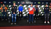 Konferensi pers MotoGP Portugal 2021 terlihat berbeda setelah kedatangan Marc Marquez setelah sembilan bulan absen.