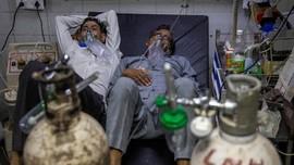 FOTO: Kewalahan RS India Tangani Ledakan Pasien Covid
