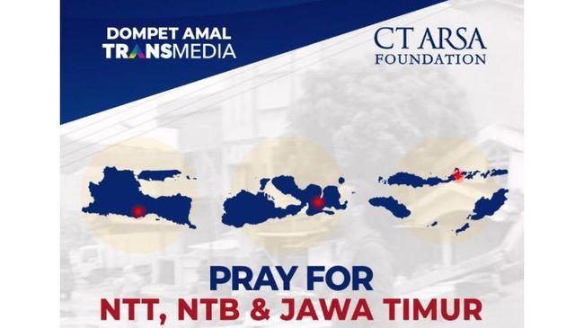 Bekerja sama dengan CT ARSA Foundation, Dompet Amal TRANSMEDIA mengajak untuk berdonasi membantu saudara-saudara korban bencana di NTT, NTB, dan Malang.