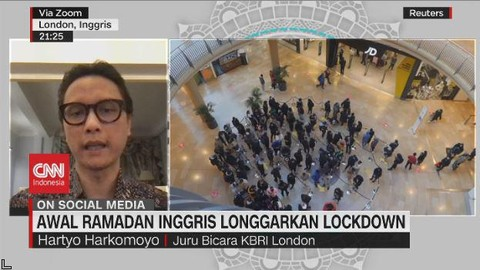 VIDEO: Awal Ramadan Inggris Longgarkan Lockdown